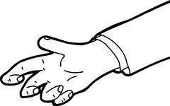 Outline of Grabbing Hand - stock illustration