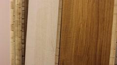 Flooring, parquet flooring store Stock Footage