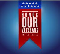 Stock Illustration of honor our veterans banner sign illustration design
