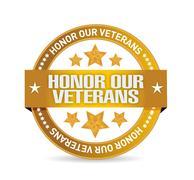 Stock Illustration of honor our veterans goal seal illustration