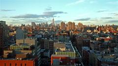 time lapse of Manhattan skyline at sunset - stock footage