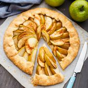 Stock Photo of Apple galette