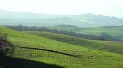 Tuscany landscape of the countryside near Siena Stock Footage