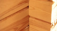 Frame wooden house Stock Footage