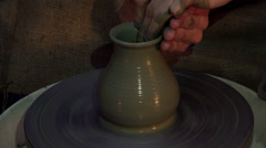 Modelling a clay pot Stock Footage