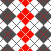 Background with diamonds suitable for shirt, red, grey and white colors - stock illustration