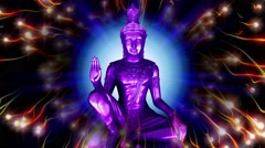 Psychedelic buddha Stock Footage