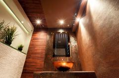 Luxury toilet in modern apartment - stock photo