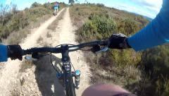 Mountain Biking in Beautiful mountains Stock Footage