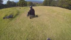 Downhill Grass Karting Stock Footage
