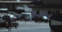 Stock Video Footage of Cars Passing Duty Custom 70s 60s Europe