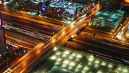 Stock Video Footage of traffic at night, time lapse