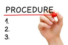 Procedure List Stock Photos