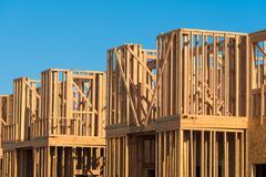 New Condominium or apartment construction Stock Photos