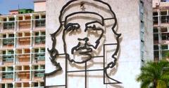 4K Che Guevara, monument, Revolution Square, Plaza de la Revolución, Havana Cuba Stock Footage