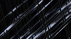 4k Abstract glass wire lines weaving metal matrix background,grid cables ropes. Stock Footage