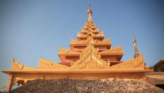 Buddhist Temple Monywa Stock Footage