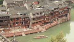 Historic Center Fenghuang City Stock Footage