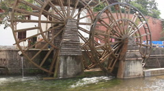 Famous watermill in Dayan old town. Lijiang, China. Stock Footage