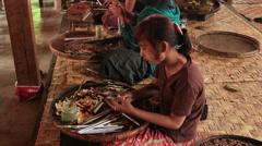 Stock Video Footage of Cigars Inle Myanmar