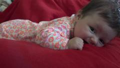 Tummy Time for Baby 2 Stock Footage