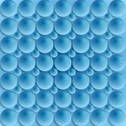 Blue circle bubbles vector design Stock Illustration