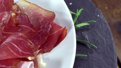 Ham Slices (not loopable) Stock Footage