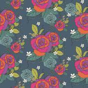 Stock Illustration of elegant seamless rose pattern