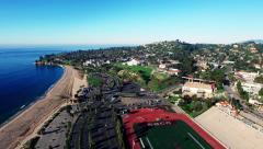 Aerial - Santa Barbara City College Football Field Stock Footage
