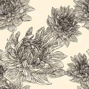 Stock Illustration of graceful floral seamless pattern