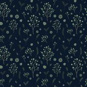 adorable floral seamless pattern - stock illustration