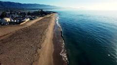 4K Aerial - Santa Barbara Harbor - Push In Stock Footage