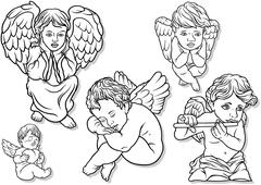 Little Angel Set - stock illustration