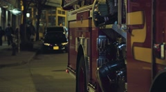 Fire Engine Detail Stock Footage