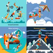 Extreme Sports Set Stock Illustration