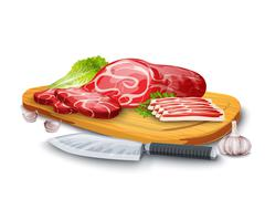 Meat On Board Stock Illustration