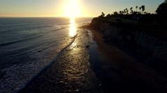 Santa Barbara Sunset - Pacific Coast Highway Stock Footage