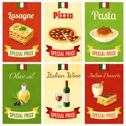 Italian Food Mini Poster Stock Illustration
