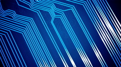 Stock Video Footage of Abstract animation of circuit board.