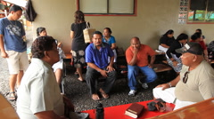 People Talking on the Micronesian island of Palau - stock footage