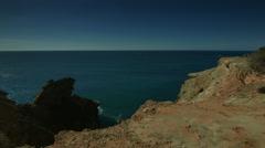 Seaside Cliff - Carapateira PAN - stock footage