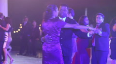 Adult indian people dance at the wedding party Stock Footage