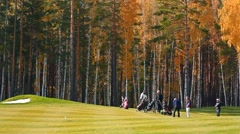 The game of golf Stock Footage