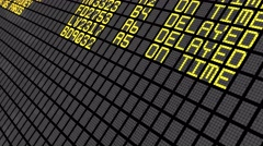4K - International Airport Board Close-Up Stock Footage