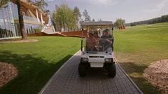 Golf Car Stock Footage