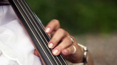 Playing cello or violoncello Stock Footage