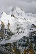 Mountain wall in Tajikistan Stock Photos