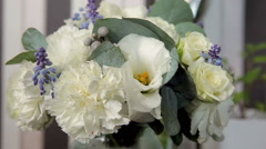 Wedding bouquet in all its glory Stock Footage