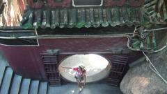 Asian Woman tourist through input visit the A-Ma Temple, Ma Kok Miu, Macau-Dan Stock Footage