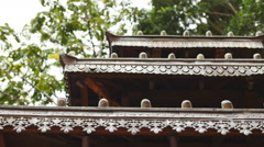 Temple roof top dolly Stock Footage